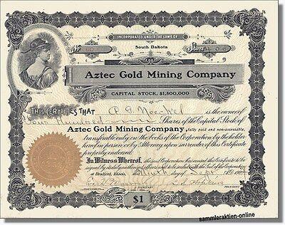 Goldminenaktie aus dem Jahr 1904