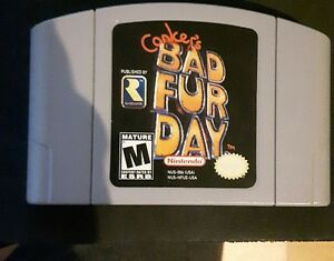 Conker's Bad Fur Day NINTENDO 64 N64 game jeu (extremely rare)
