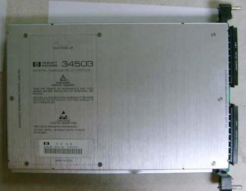 HP Agilent Keysight 34503 General Purpose Relay Module