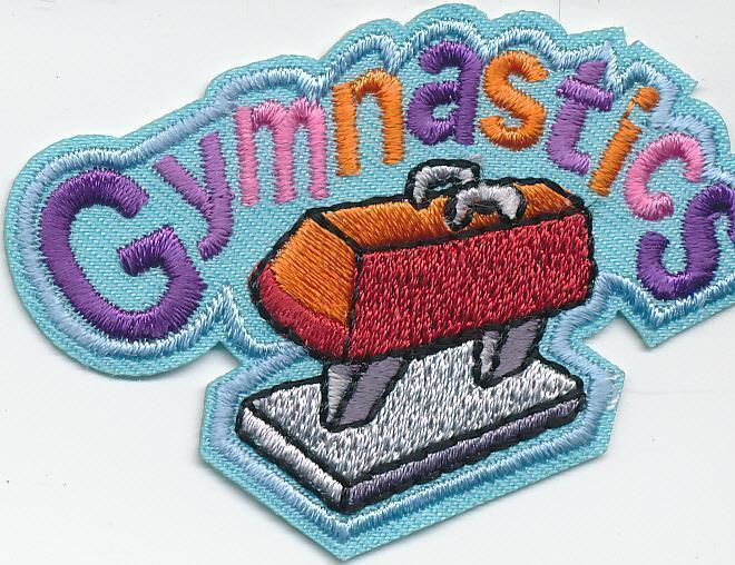 Girl Boy Cub Blue GYMNASTICS Class Fun Patches Crests Badge SCOUT GUIDES Meet