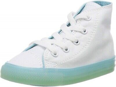 Converse Chuck Taylor All Star Hi Toddler Shoes White/Bleached Aqua Size 10 US Converse Toddler Shoes