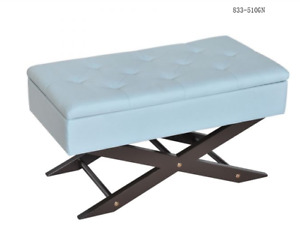 Tufted Upholstered Storage Ottoman Bench  TAX INCL