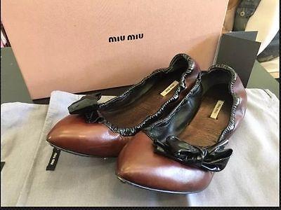 Miu Miu Bow Flats 38.5 / 38 1/2