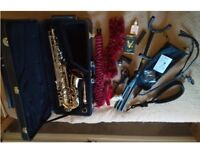 Yanagisawa A901 Alto Sax c/w case, stand and accessories