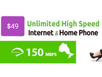 Unlimited High Speed Internet $29.95