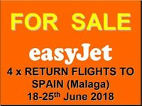 Return Flights Belfast - Malaga for 4 Adults