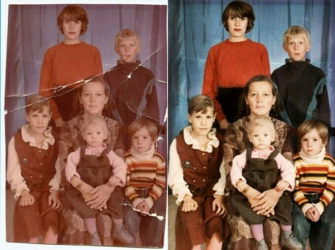 Photo Restoration (Enhancing,Retouching,Recoloring)