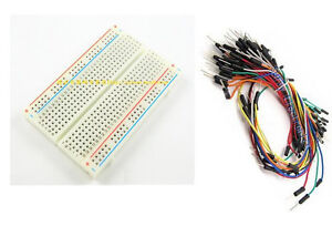 Mini-Universal-Solderless-Breadboard-400-Tie-points-65PCS-Jumper-cable-wire