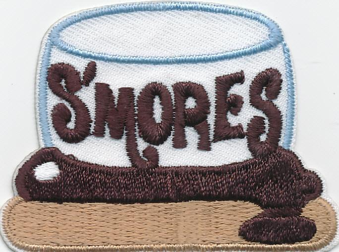 Girl Boy Cub SMORES Big Marshmallow Fun Patches Crest Badges SCOUT GUIDE S