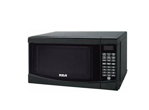 RCA 0.7 cu. ft. Countertop Microwave in Black-RMW733-BLACK