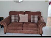 Sofas 3 & 2 seater plus pouf