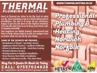 THERMAL plumbing and heating. Gas engineer. All work undertaken!