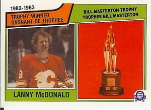 83-84 OPC Lanny McDonald Trophy Winner-Calgary Flames-Clean Corners-GRADE THIS