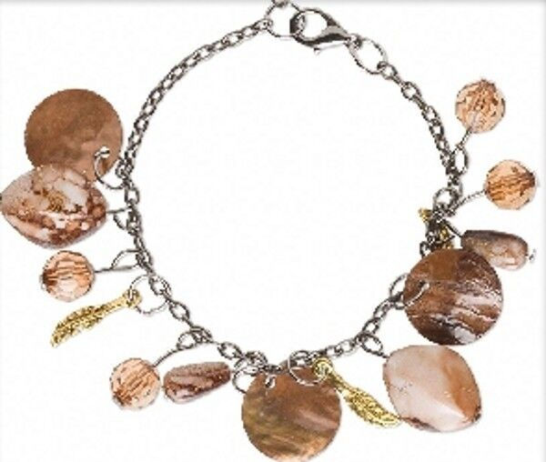 Bracelets Mussel Shell Drops 7 - 8-1/2 inch Adjustable Chain Lot of 4