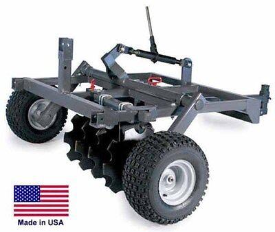 """DISC HARROW for ATVs UTVs & Garden Tractors - 48"""" Cut Width - Eight 16"""" Blades"""