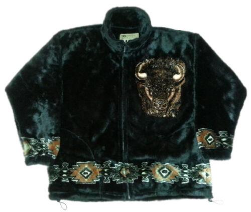Buffalo Native American Plush Fleece Bison Jacket (SM - 2X)