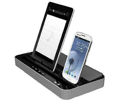 Dual CHARGER Docking STATION Speaker For iPhone 6 5 5S 5C iPad Air iPad 2 3 4 5#