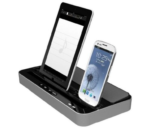 dual charger docking station speaker for iphone 6 5 5s 5c ipad air ipad 2 3 4 5 ebay. Black Bedroom Furniture Sets. Home Design Ideas