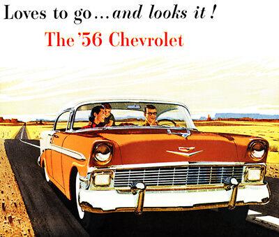 - 1956 Chevrolet Bel Air Sport Sedan - Promotional Advertising Poster