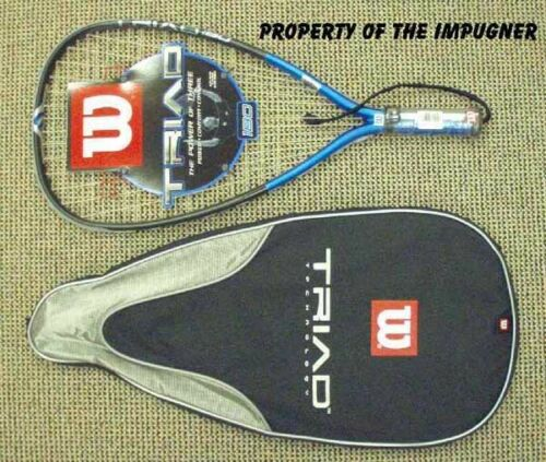 New Wilson Triad 180 Racquetball S-SM 3 5/8 or X-SM 3 7/8 180 g rare easy on arm