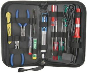 Mercury 710.362 Electrical Tool Set DIY Kit Screwdrivers Soldering Iron + Pliers