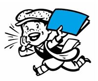 I do newspaper routes and delivery mail