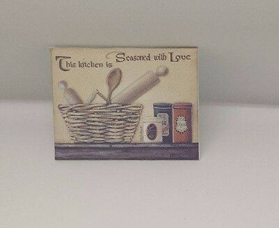 HANDMADE MINIATURE DOLLS HOUSE ACCESSORY CANVAS STYLE PICTURE KITCHEN #3