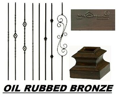 Iron Balusters Iron Spindles Metal Stair Parts Hollow Oil Rubbed Bronze