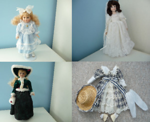 Porcelain Doll With Stand & Box-3 Available As Well As An Outfit