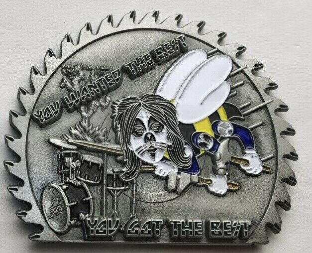KISS Seabee The Catman Peter Criss Military Challenge Coin