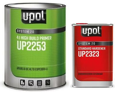 U-POL 2253 & 2323 2K 4:1 HIGH BUILD 2K URETHANE PRIMER GRAY WITH ACTIVATOR