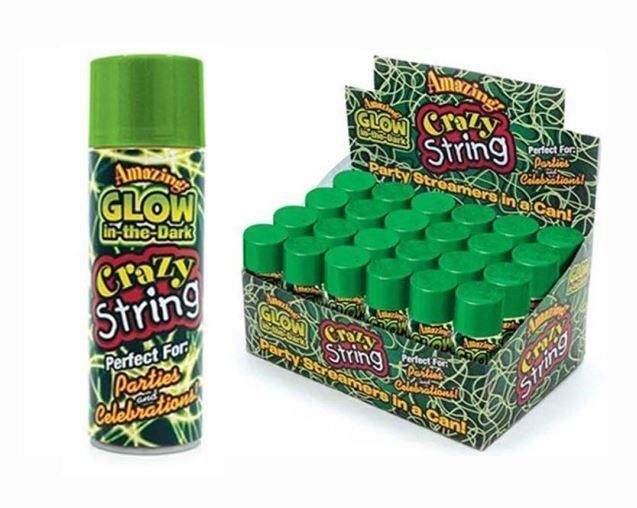 GLOW in the Dark Crazy Silly String 150ml Parfect for Parties and Celebrations