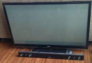"55 "" LG TV and Samsung Soundbar"