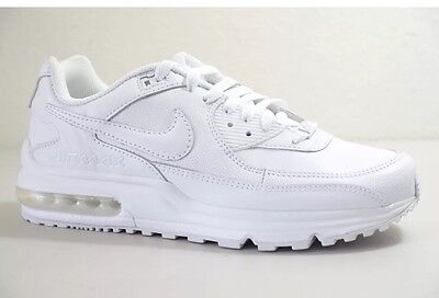 NWT Mens Nike Air Max Wright Running Sneakers All White #317551 111