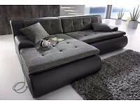 Brand New Beautiful Soft Corner Sofa With Bed And Storage Black