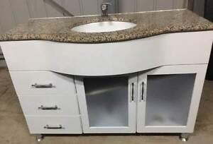 Bathroom Vanity Unit, Solid Stone Top Blackstone Ipswich City Preview
