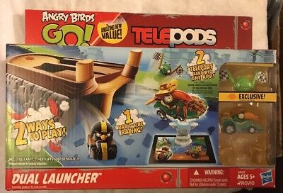 Angry Birds Go  Telepods Racing Rivals Dual Launcher Kart Action Hasbro New