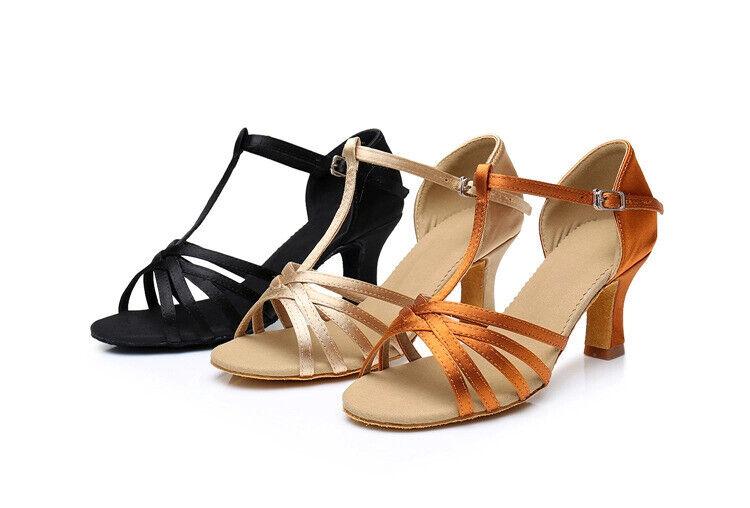 Lateintanzschuhe mit Steg, Damen, 5 cm Absatz, Latein Tanzschuhe, Ballroom