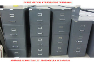 LOT CLASSEUR FILIERE 4 TIRROIRS VERTICAL FILING CABINET