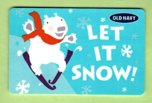 OLD NAVY Let It Snow, Polar Bear Skiing 2010 Gift Card ( $0 )