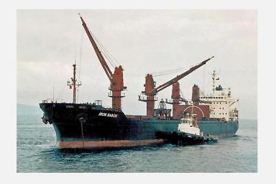 IRON BARON (4) built 1985 BHP Shipping Australia Digital Photo Postcard Modern