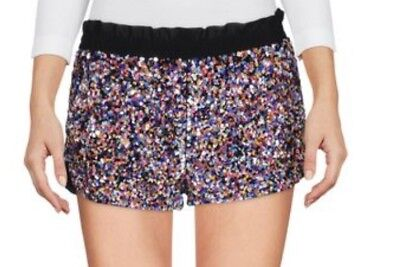 Red Valentino Multi Colored Sequin Shorts, Sz - Red Sequin Shorts