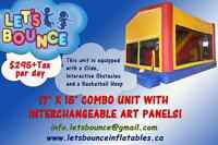 5 in 1 Combo Bouncy Castle Rental - $295+TAX/ Day