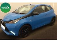 £143.43 PER MONTH 2015 BLUE TOYOTA AYGO 1.0 VVT-i X-CITE 2 3 DOOR PETROL MANUAL