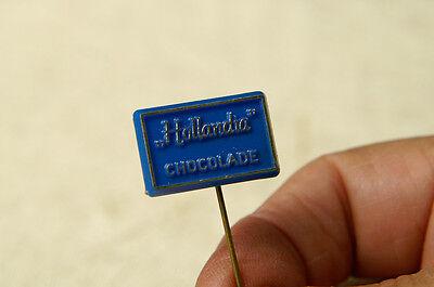"VINTAGE ""HOLLANDIA CHOCOLADE "" PIN ANSTECKNADEL BADGE BUTTON"
