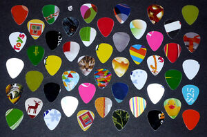 50 Guitar Picks :One-of-A-Kind : Various colors/designs/pictures