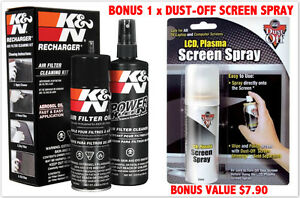 K&N AIR FILTER RECHARGE KIT CLEANER & OIL KN 99-5000 FREE SHIPPING AU WIDE
