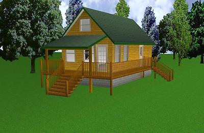 16x30 Cabin w/Loft Plans Package, Blueprints & Material List for sale  Collettsville