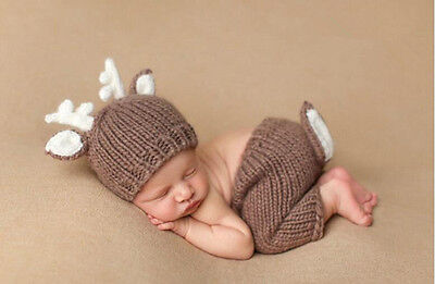 Newborn Baby Girls Boys Crochet Knit Costume Photo Photography Prop Outfits](Newborn Costume)