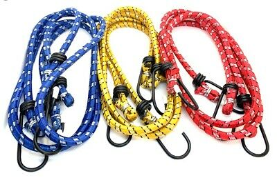 """6 PCS 30"""" Long Bungee Cords with Metal Hooks Stretch Elastic"""
